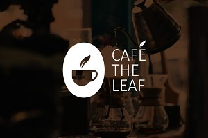 Cafe The Leaf Logo