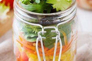Salad in jar
