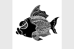 Tangle Patterns  style fish vector