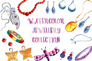 Watercolor juwelly collection