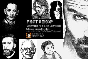 Photoshop Vector Trace Action