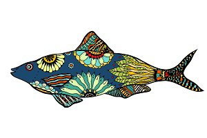 Vector stylized Fish