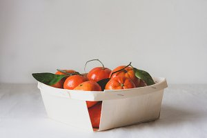 Clementines in basket