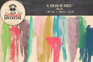 Brushes - A Touch of Paint Vol01