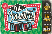 The Country Blues • Font Duo by  in Fonts