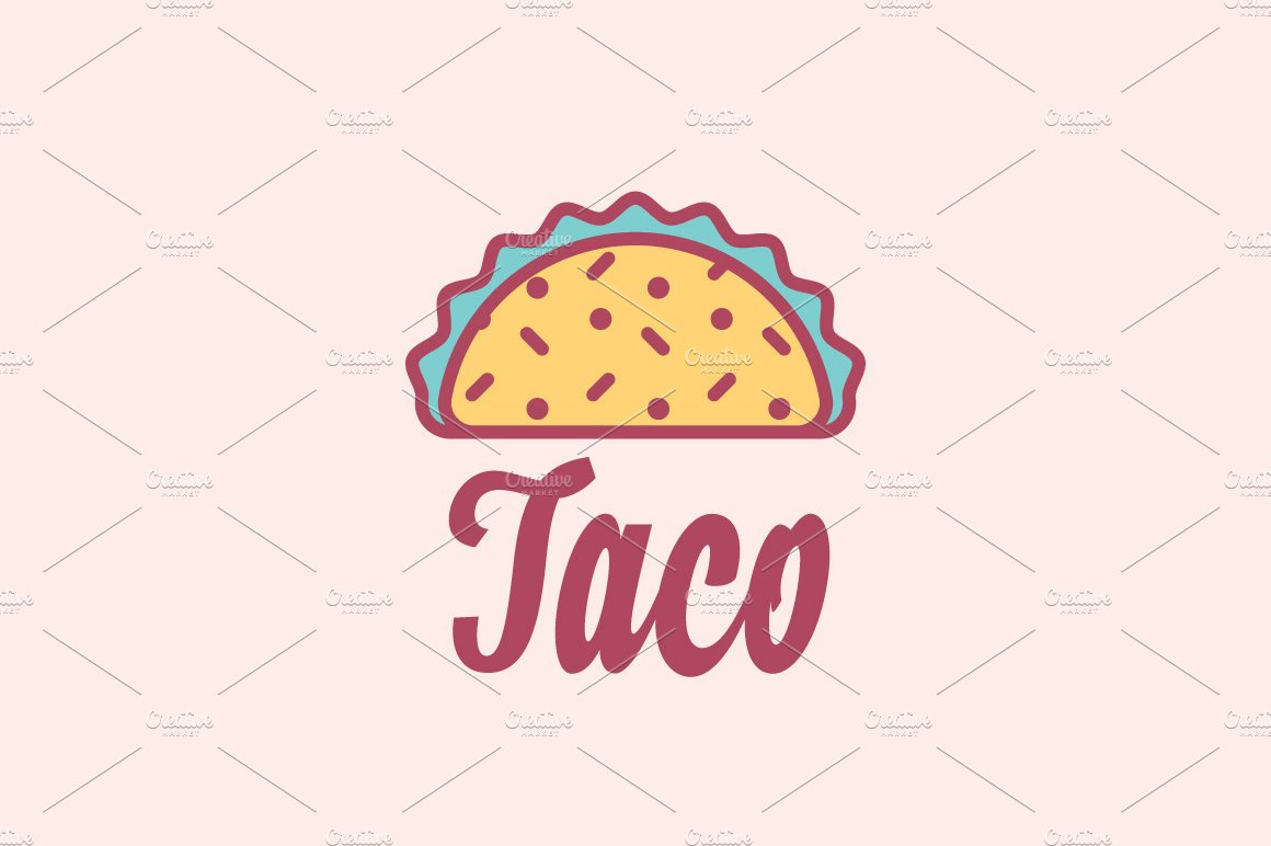 Taco mexican restaurant logo logo templates creative market buycottarizona Image collections