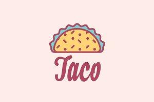 Taco Mexican Restaurant Logo
