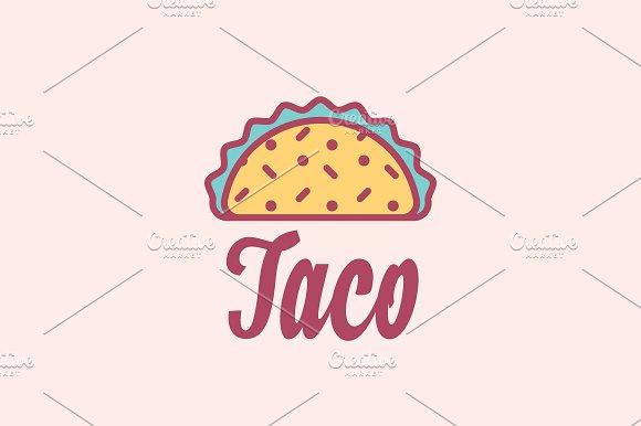 taco mexican restaurant logo logo templates creative market