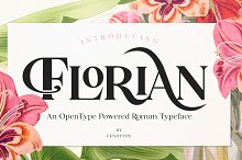 Florian -Swashy Serif Type by  in Fonts