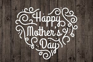 Happy Mothers Day Vector Overlay PNG