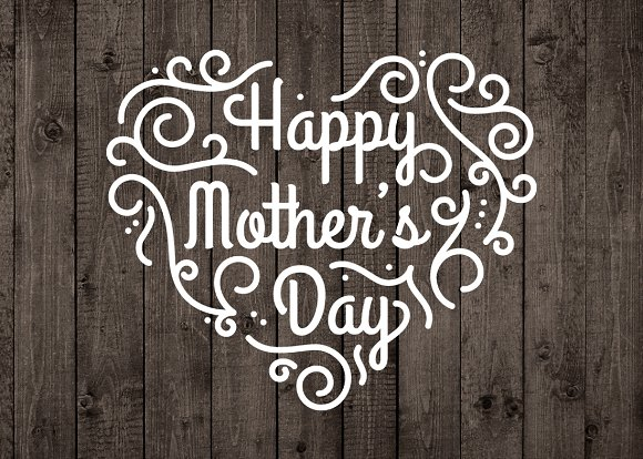 Happy mothers day vector overlay png ~ illustrations ~ creative market