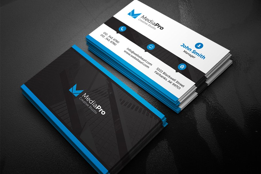 Modern creative business card business card templates creative previous reheart Choice Image