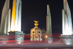 Democracy Monument in Bangkok city