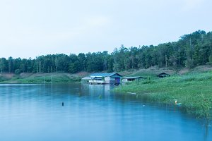 Houseboat in water