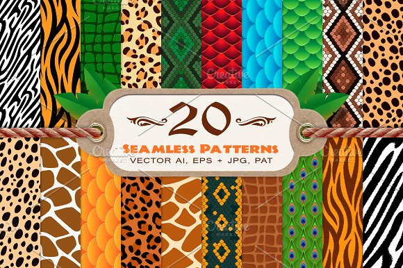 20 Animal Print Seamless Patterns Patterns Creative Market