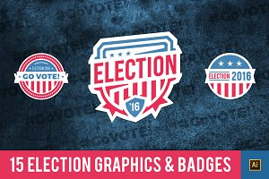 Election Badges & Graphics