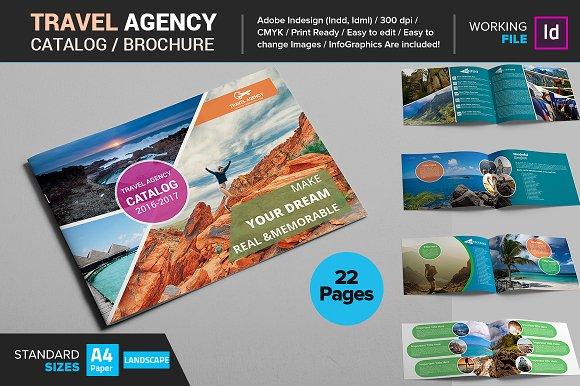 travel agency catalog brochure brochure templates creative market