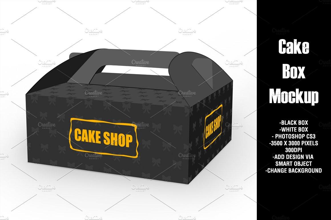 Download Cake Box Mockup ~ Product Mockups ~ Creative Market