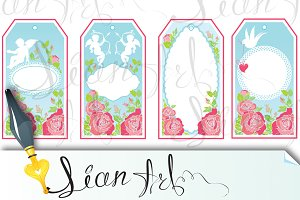holiday banners and labels