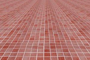 Ceramic mosaic floor