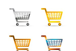 Set of shopping carts icons
