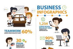 Infographic Office and Business