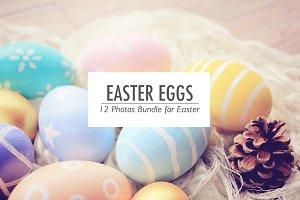12 Photos Easter Eggs collection