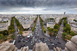 Paris skyline, France.