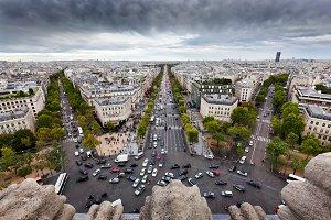 Paris skyline, France.