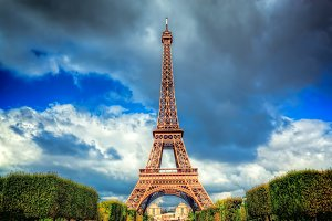 Eiffel Tower seen from Champ de Mars