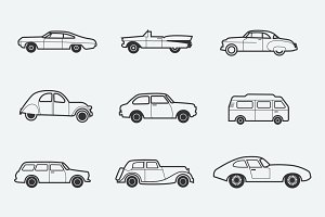 9 Classic and Retro Car Icons