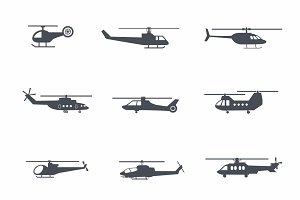9 Helicopter Icons