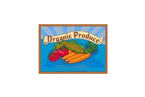 Organic Produce Crop Harvest Label