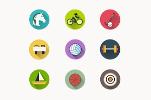 9 Summer Games Icons