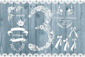 Floral number three, 3rd celebration