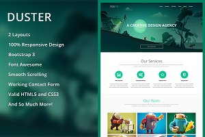 Duster - Single Page HTML Template