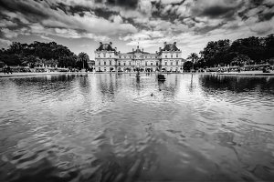 Luxembourg Gardens in Paris, France.