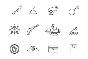 12 Pirate Icons