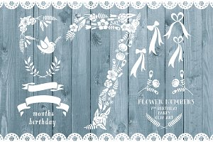 Floral number seven, card invite