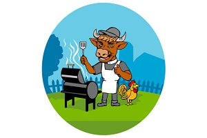 Clergy Cow Minister Barbecue Chef
