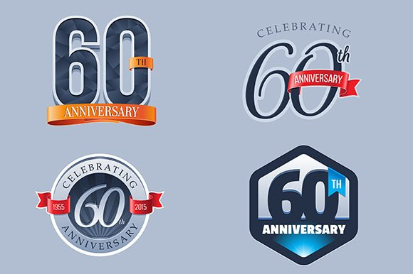 60th Anniversary Logo Illustrations Creative Market