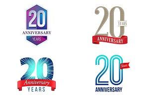 20th Anniversary Symbol