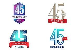 45th Anniversary Symbol