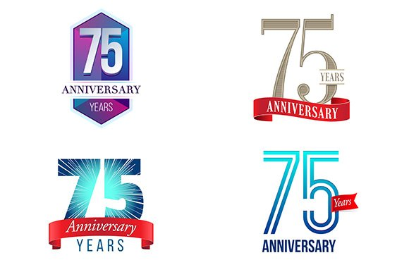 75th Anniversary Symbol Illustrations Creative Market