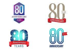 80th Anniversary Symbol