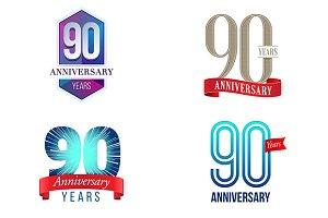 90th Anniversary Symbol