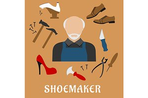 Shoemaker profession icons