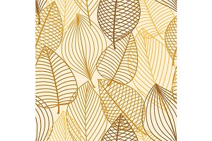 Autumn outline seamless pattern