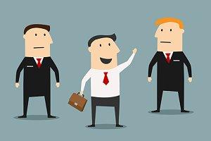 Businessman and bodyguards