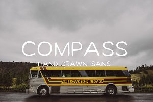 Compass Sans Hand Drawn Typeface